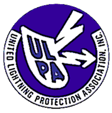 Logo for the organization United Lightning Protection Association. Inc. that Boston Lightning Rod Co., Inc. is a member of in Dedham, MA
