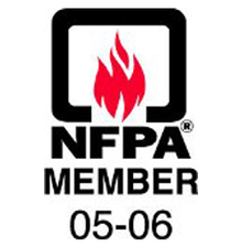 Logo for the National Fire Protection Association that Boston Lightning Rod Co., Inc. is a member of in Dedham, MA